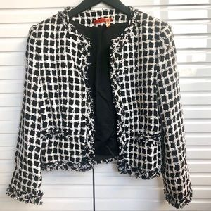 Alice + Olivia Addison Boxy Tweed Jacket